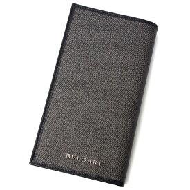 ブルガリ 財布 メンズ BVLAGARI ウィークエンド 32582 グレー×ブラック