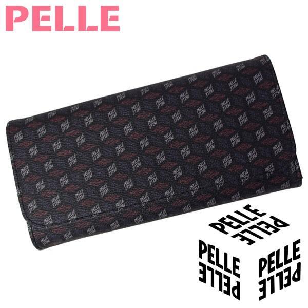 【母の日 プレゼント】【セール】 ペレ PELLE 財布 レディース 長財布 ウォレット Cube キューブ 1105 ブラック