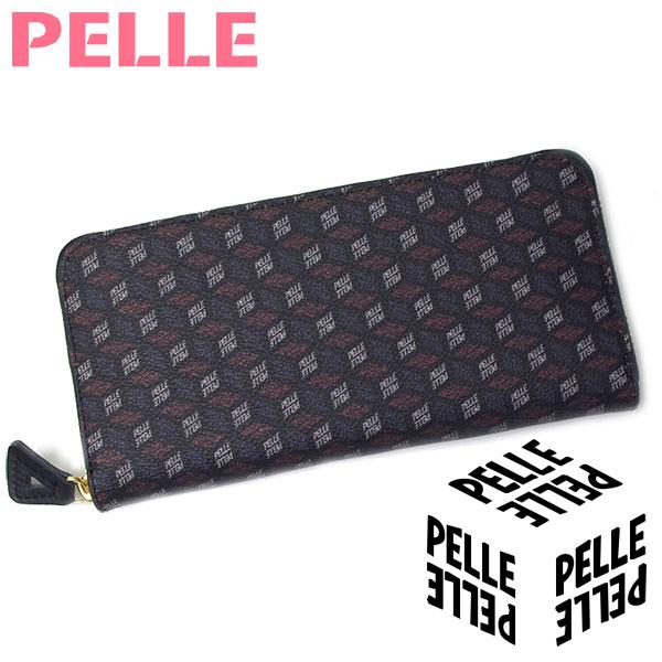 【母の日 プレゼント】【セール】 ペレ PELLE 財布 レディース 長財布 ウォレット Cube キューブ 1106 ブラック