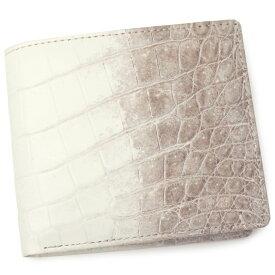 クロコダイル 財布 メンズ レディース 無双仕立て CROAP-6/N ヒマラヤホワイト