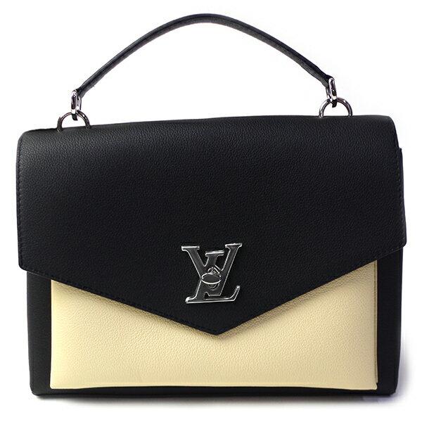 ルイヴィトン LOUIS VUITTON MyLockme M54878 ブラック/ホワイト レディース 2WAY ハンドバッグ