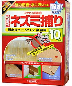 イカリ消毒 耐水チュークリン(10枚入) 業務用 ネズミ粘着シート・ねずみ駆除・ネズミ捕り・鼠侵入防止