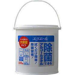 エリエール 除菌できるアルコールタオル 本体400枚 大容量タイプ 大王製紙