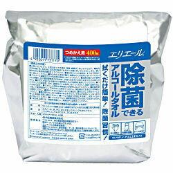 エリエール 除菌できるアルコールタオル 詰め換え400枚 大容量タイプ 大王製紙