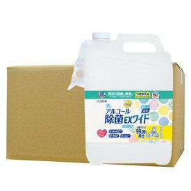 ヘルパータスケ らくハピ アルコール除菌EXワイド つめかえ 5L×3個セット アース製薬 [アルコール除菌剤]【介護用品】