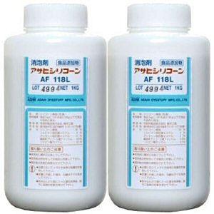アサヒシリコーン AF118L 1L×2本【食品添加用消泡剤】