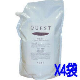 코세 「KOSE」퀘스트 QUEST 내츄럴 스킨 로션(화장수) 1.2 L×4봉/케이스 여성용 화장품 업무용