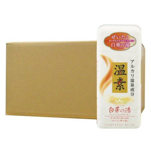 アース製薬 温素[ボトル入り] 白華の湯 600g×16本 入浴剤