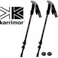 カリマー karrimor カーボン トレッキングポール 2本セット 超軽量 約190g/本 ブラック/レッド 登山用品 ステッキ 登山