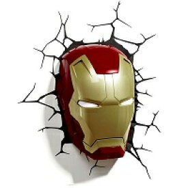 アイアンマン Iron Man 3 3D Deco Mask 3D Light FX アイアンマン3 3Dデコライト マスク 顔 フィギュア アベンジャーズ ウォールライト LED 照明 壁ライト 立体 アメコミ