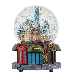 Harrods ハロッズ スノードーム オルゴール付き スノーグローブ クリスマス ミュージカル きらきら星 Skyline Musical Snow Globe
