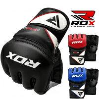 RDXオープンフィンガーグローブ格闘技MMAグローブF12キックボクシングトレーニング総合格闘技黒青赤