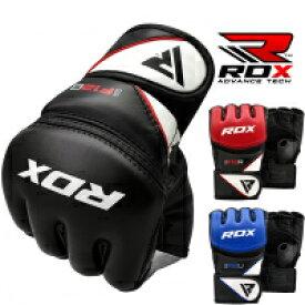 RDX オープン フィンガー グローブ 格闘技 MMA グローブ F12 キック ボクシング トレーニング 総合格闘技 黒 青 赤