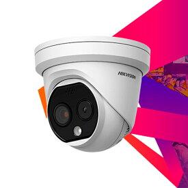 同時に20人まで顔検知が可能!! タレット(ドーム)型 検温体温測定 顔検知Aiサーマルカメラ サーモグラフィカメラ サーモグラフィー 体温 DS-2TD1217B-3/PA HIKVISION