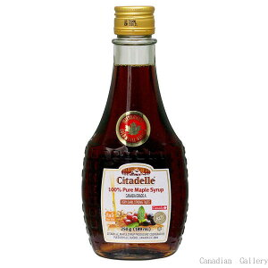 カナダ産 100%ピュア メープルシロップ グレードA ベリーダーク(ストロングテイスト) 189ml/250g(瓶) 12本 シタデール(Citadelle)