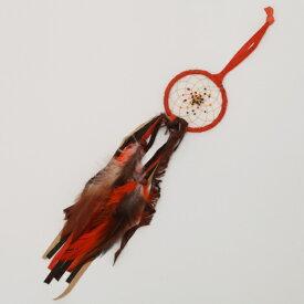 2.5インチ(6.3cm) ドリームキャッチャー DCF1OR オレンジ色北米インディアンに伝わる神話/カナダ先住民の手作り 本当のドリームキャッチャー/カナダ製