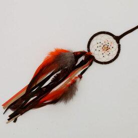 2.5インチ(6.3cm) ドリームキャッチャー DCF1BR ブラウン北米インディアンに伝わる神話/カナダ先住民の手作り 本当のドリームキャッチャー/カナダ製