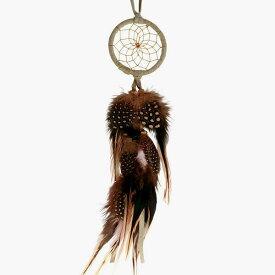 2インチ(5cm) ドリームキャッチャー DCV1 ベージュ色北米インディアンに伝わる神話/カナダ先住民の手作り 本当のドリームキャッチャー/カナダ製