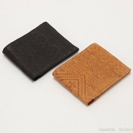 訳あり、在庫処分品『送料込』【1個】鹿革二つ折り財布 カードタイプ タン&ブラックドル札タイプのため幅が狭くなっています。【メール便配送(ポスト投函)、代引不可、お試し商品以外同梱不可】smp