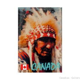 CANADA インディアン チーフとウォーボーンネット マグネット  【メール便可】rp