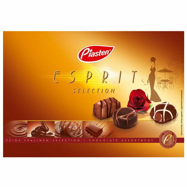 クリスマスギフト包装 箱入チョコレート 180g(18粒) 4箱ピアステン エスプリ チョコレート(ドイツ)クリスマスプレゼントに包装してのお届けです送料込商品