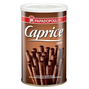 【12缶】カプリス ウエハーロール ダークチョコクリーム 250gクール便配送の選択可能沖縄は一部送料負担あり