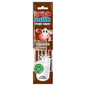 【5袋】フェルフォルディ クイックミルク・チョコレート 5本パック普通のミルクがストロー1本で簡単にチョコレートミルクに早変わり【メール便配送(ポスト投函)、代引不可】