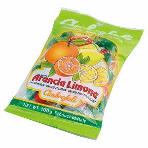 【8袋】アンブロッソリー オレンジ・レモン袋入(キャンディ) 100g沖縄は一部送料負担ありsrk