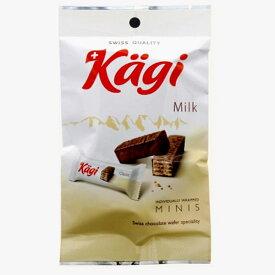 【5袋】カーギ チョコウエハース ミルク 6p【メール便配送(ポスト投函)、代引不可】