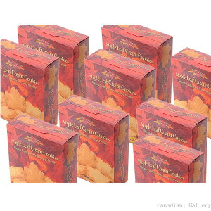 メープルテルワー メープルリーフ クリームクッキー 350g 24枚 12箱 メープルシロップの風味豊なクリームがサンドされています。