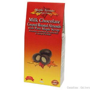 【夏季クール便配送】【8箱】メープルアーモンド チョコレート 100g【代引き不可】