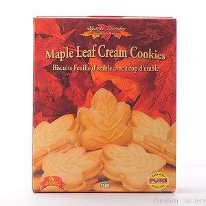 メープルテルワー メープルリーフ クリームクッキー 350g 24枚 1箱 メープルシロップの風味豊なクリームがサンドされています。