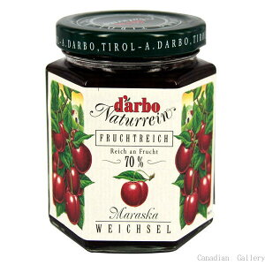 【1瓶】ダルボ サワーチェリー ジャム 200g果肉70%使用、甘すぎない糖度約41度のジャム北海道、九州、沖縄は一部送料負担ありsrk