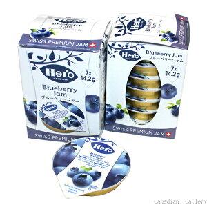 【3箱】ヒーロー ブルーベリー ポーションジャム(食べきりサイズ)1箱(1箱7個入り)沖縄は一部送料負担ありsrk