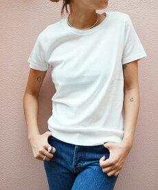 harmonie -OrganicCotton-(アルモニ オーガニックコットン)クルーネック無地半袖Tシャツキャナルジーンレディース 半袖Tシャツ Tシャツ カットソー トップス シンプル 無地 着回し おしゃれ カジュアル 大人カジュアル デイリー
