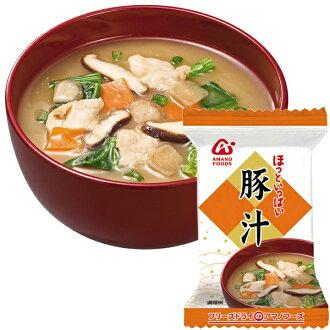 Pork miso soup 8.5 g ten *2 treasuring [miso soup set instant miso soup pork miso soup] relievedly a lot of AMANO foods freeze dry