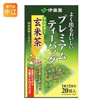 Ito 紫藤花园高档茶袋绿茶与糙米茶 20 袋 x 8 片断 [茶袋]