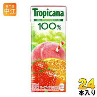 キリントロピカーナ100%水果×水果水果混合250ml报纸膜面护肤24本入〔〕