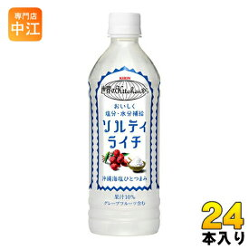 〔クーポン配布中〕キリン 世界のKitchenから ソルティライチ 500ml ペットボトル 24本入