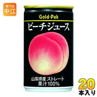Gold Pack桃子汁山梨县生产笔直160g罐20本入〔果汁100%桃子汁桃子汁〕