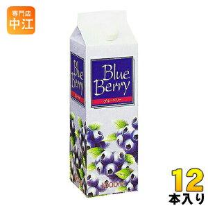 ジーエスフード ブルーベリー 1L 紙パック 12本入〔果汁飲料〕