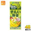 伊藤園 せんい野菜 200ml 紙パック 48本 (24本入×2 まとめ買い) 野菜ジュース