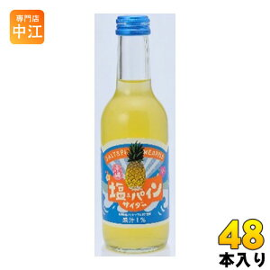 友桝飲料 塩&パインサイダー 245ml 瓶 48本 (24本入×2 まとめ買い)〔炭酸飲料〕