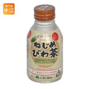 十津川農場 ねじめびわ茶 290ml 缶 48本 (24本入×2 まとめ買い) 〔お茶〕