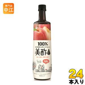 CJジャパン プティチェル美酢(ミチョ) もも 900ml ボトル 24本 (12本入×2 まとめ買い) 〔酢飲料〕