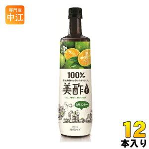 CJジャパン 美酢(ミチョ) カラマンシー 900ml ボトル 12本入〔酢飲料〕