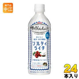 キリン 世界のKitchenから ソルティライチ 500ml ペットボトル 24本入〔果汁飲料〕