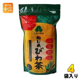 十津川農場 ねじめびわ茶 ティーバッグ 2g×24バック 4袋 (1袋入×4 まとめ買い)