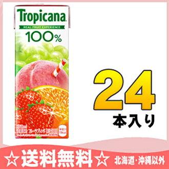 Kirin Tropicana 100% fruit x fruit fruit blend 250 ml paper pack 24 PCs [fruit juice fruit mix]