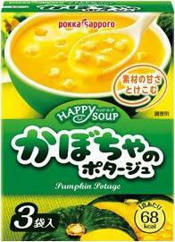 ポッカサッポロハッピースープかぼちゃのポタージュ3袋×30箱入
